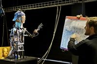 Gestenroboter BARTHOC, Niklas Beuter. Bild: Thomas Pflaum, Bild der Wissenschaft 2009.