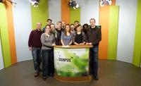 Das Campus TV Team. Foto: Jörg Erber/Campus TV