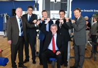 Wolfgang Brinkmann,  Professor Dr. Gerd Mühlheußer, Prof. Dr. Klaus Cachay, Friedhelm Rieke, Prof. Dr.-Ing. Gerhard Sagerer und  Hans-Jürgen Simm (v.l.)