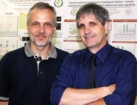 Professor Dr. Karl-Josef Dietz und sein Gast Professor Dr.  Jean-Pierre Jacquot (v.l.)