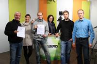 Die Mitarbeiter von Campus TV freuen sich über die Auszeichnung