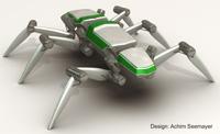 Sechsbeiniger Laufroboter mit elastischen Antrieben