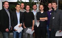 Die Preisträger (v.l.): René Zorn, Han Yi Li, Philipp Grimm, Julian Rolle, Roland Orlik, Christian Liguda, Marco Civico und Björn Sommer