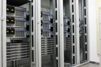 The components of the new supercomputer are currently being assembled in 15 cabinets.