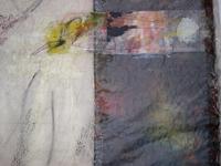 Foto: Gisela Wäschle - Poem (Ausschnitt) 2011, Papier,Grafit, Tusche, Acryl.