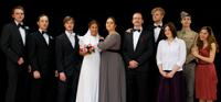 """Mimen den Mafia-Clan aus Francis Ford Coppolas """"Der Pate"""": Die studentischen Schauspieler der English Drama Group der Universität Bielefeld."""