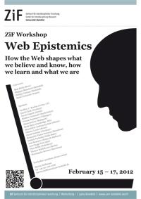 """Plakat zu der Tagung """"Web Epistemics""""."""