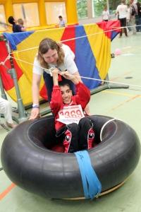 """""""Dabei sein ist alles"""" heißt es beim wettbewerbsfreien Angebot der Bethel athletics. Foto: Reinhard Elbracht"""