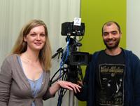 Kristin Nahrmann und Emrah Turan hoffen auf neue Kontakte in die Filmbranche.
