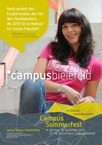 Plakat-Aktion: Nadine Domeier studiert im nächsten Jahr Philosophie im Ersatzneubau.