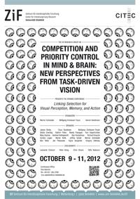 Plakat zur Auftaktkonferenz: Die neue Forschungsgruppe fragt, wie Geist und Gehirn steuern, was Menschen visuell wahrnehmen.