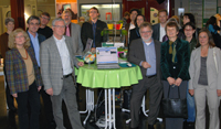 Der leitende Bibliotheksdirektor Dr. Michael Höppner (vorn links) empfing die Gäste in Bielefeld und verabschiedete sich gleichzeitig aus dem Gremium. Er wird im Dezember in der Ruhestand verabschiedet.
