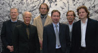 Der neu gewählte Aufbauvorstand der Bielefeld Graduate School in Theoretical Sciences (v.l.n.r.): Prof. Dr. Henning Krause, Prof. Dr. Michael Röckner, Prof. Dr. Gernot Akemann, Prof. Dr. Frank Riedel, Prof. Dr. Edwin Laermann, Prof. Dr. Herbert Dawid.