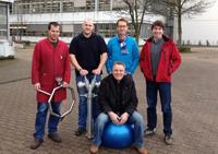 Das Bielefelder Kopfball-Expertenteam: Johann Hartmann, Thomas Rüscher, Dr. Jan Schmalhorst, Dr. Markus Meinert (v.l.) und Hans Bartels (vorne).