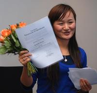 Neben ihrem Masterstudium hat sich Xin Nie im Internationalen Studierendenrat engagiert.