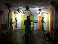 Das Campus TV-Studio in der Universität Bielefeld