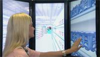 """Das System """"OctaVis"""", entwickelt am Exzellenzcluster CITEC, versetzt seinen Nutzer in einen virtuellen Supermarkt, um in dieser Umgebung kognitive Fähigkeiten zu trainieren."""