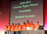 Das iGEM-Team der Universität Bielefeld hat den Gesamtsieg beim europäischen Vorentscheid des iGEM-Wettbewerbs geholt. Foto: iGEM-Team Bielefeld