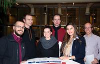 Erfolgreich bei der Science Fair: Eckard Riedenklau, Matthias Schürmann, Janine Müller, Markus Hefter, Yasemin Coskun und Hannes Riechmann (v.l.)