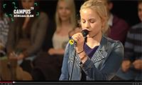 """Millionenfach geklickt: Das """"Campus TV""""-Video mit der Poetry-Slammerin Julia Engelmann erregt viel Aufmerksamkeit."""