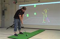 CITEC-Forscher haben Bewegungsabläufe für Golf, Tennis oder auch Volleyball per Computer erfasst. In einer Software werden Bilder der Abfolgen genutzt, um Sportlern die Techniken zu vermitteln. Foto: CITEC