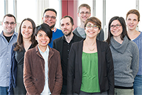 Neue Promovierende haben ihre Stellen als Mitarbeiterinnen und Mitarbeiter der Bielefelder Graduiertenschule in Geschichte und Soziologie (BGHS) angetreten. Foto: Thomas Abel/Universität Bielefeld