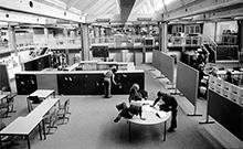 Die Laborschule kurz nach ihrer Eröffnung 1974.