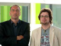 Projektmitarbeiter sind Andreas Grau und Martin Winands. Sie erforschen in der Untersuchung die Identifikation von Fans mit Fußballvereinen der ersten bis dritten Liga. Foto: Universität Bielefeld