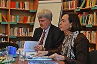 Die Präsidentin des DAAD Prof. Dr. Margret Wintermantel und der Leiter der Moskauer Außenstelle des DAAD Dr. Gregor Berghorn zu Gast im ZDES.