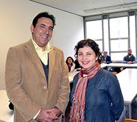 Carolina Andaur Marín und Leonardo Bolton erläuterten das chilenische Bildungssystem.