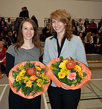 Rebekka Lawler (Geschichte) und Christina Sprick (Philosophie). (v. l.). Foto Universität Bielefeld