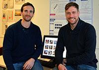 Die Sportwissenschaftler Ludwig Vogel und Heiko Lex (v.l.) haben eine Software für Bethel entwickelt. Das Projekt startet im Januar und läuft über drei Jahre. Foto: Universität Bielefeld