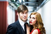 Sonja Vollmer und Nico Storms als Nora und Torvald Helmer. Foto: Evgenij Borisov