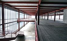 Teile der ehemaligen Bibliotheksfl�che im ersten Bauabschnitt sind schadstofffrei und entkernt.  Copyright: Universit�t Bielefeld