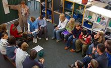 Diskussionsrunde in der Laborschule Copyright: Universit�t Bielefeld