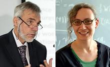 Prof. Carrier und Dr. Schindler Copyright: Universit�t Bielefeld