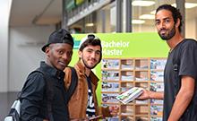 Gefl�chtete mit Mentor Copyright: Universit�t Bielefeld