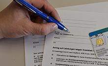 Antrag versus Gesundheitskarte Copyright: Universität Bielefeld
