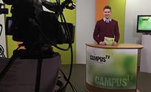 Moderator CampusTV Copyright: Universität Bielefeld
