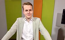 Moderator Julian Fischer Copyright: V. Maiwald/Campus TV
