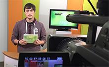 Campus TV-Moderator Hannes Westermann Copyright: Bielefeld University