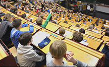 Hörsaal Kinderuni Copyright: Universität Bielefeld