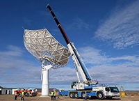 The SKA-MPG telescope is currently being constructed on site in South Africa. Photo: South African Radio Astronomy Observatory (SARAO)