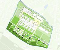 Das Gelände des Campus Süd im Überblick. Visualisierung: AS+P Albert Speer + Partner