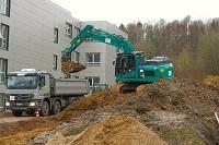 Februar 2020: Die Bauarbeiten für die Erweiterung des Gebäude Z haben begonnen.