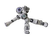 Die Programmierung von Robotern zum Beispiel von Nao wird in einem der Online-Workshops im OZHB angeboten. Foto: Universität Bielefeld