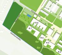 Die Baustraße stellt eine direkte Verbindung der Wertherstraße und der Konsequenz her.