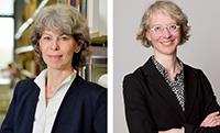 Sie haben die Open-Access-Tage 2020 zusammen mit ihren Teams nach Bielefeld geholt: Barbara Knorn (li.) von der Bibliothek der Universität Bielefeld und Dr. Karin Ilg von der Bibliothek der Fachhochschule Bielefeld. Foto links: Universität Bielefeld, Foto rechts: fm-fotomanufaktur