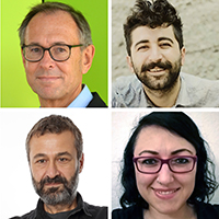 Die IKG-Forschenden Prof. Dr. Andreas Zick (li.o.), Aydin Bayad (re.o.), Dr. Ekrem Duzen (li.u.) und Elif Sandal-Önal (re.u.) untersuchen, was Türkischsein in Deutschland heute heißt. Fotos (3): Universität Bielefeld, Foto li.u.: Arti Media GmbH