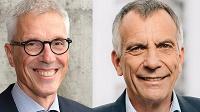 Dr. Stephan Becker und Professor Dr.-Ing. Gerhard Sagerer. Foto: Universität Bielefeld/M. Adamski.